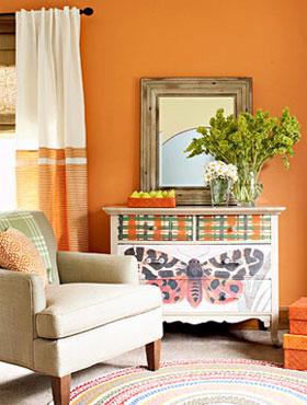 Làm ấm với những mảng màu cam