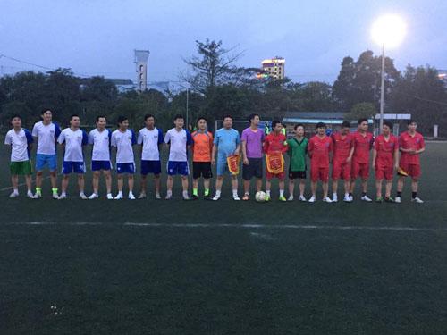 Hình ảnh Cán bộ nhân viên Tập Đoàn Xây Dựng Miền Trung tham gia giải bóng đá halida