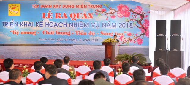 Tập đoàn xây dựng Miền Trung ra quân triển khai kế hoạch thực hiện nhiệm vụ năm 2018