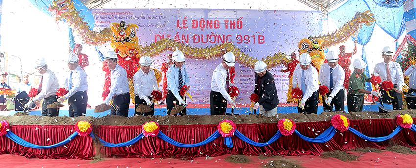 Tập đoàn Xây dựng Miền Trung khởi công dự án đường 991B, tỉnh Bà Rịa - Vũng Tàu