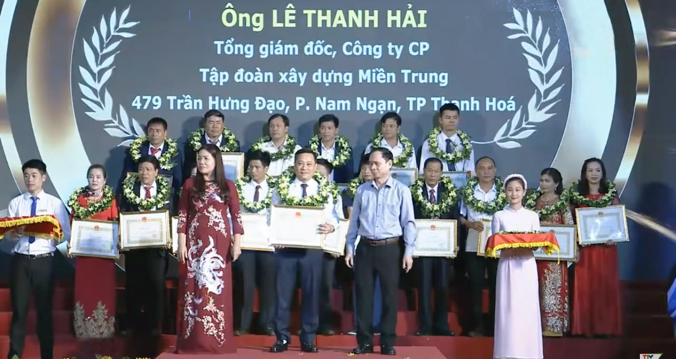 13-10-2018, Ủy ban Nhân dân tỉnh tổ chức lễ tôn vinh doanh nhân và sản phẩm hàng hóa tiêu biểu tỉnh Thanh Hóa năm 2018.